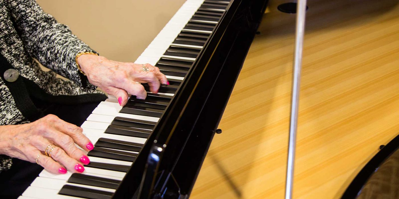 Harbour Hill Baby Grand Piano For All Residents to Play